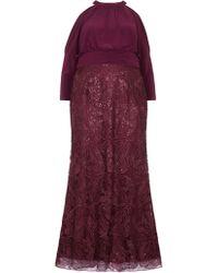 Adrianna Papell - Long Sequin Blouson Dress - Lyst