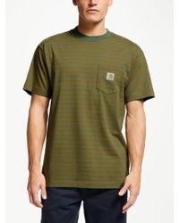 Carhartt WIP - Barkley Short Sleeve Stripe Pocket T-Shirt - Lyst