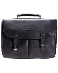 Barbour   Leather Briefcase   Lyst