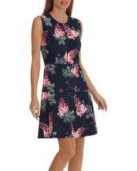 Betty Barclay Floral Print Jersey Dress in Blue - Lyst d928019de3