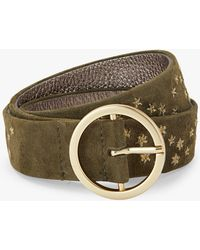 Boden - Classic Embroidered Suede Jeans Belt - Lyst