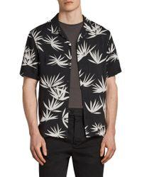 AllSaints - Bhutan Palm Leaf Print Shirt - Lyst