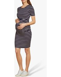 Isabella Oliver - Daisy Striped Maternity Dress - Lyst