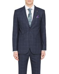 Ted Baker - Stefanj Check Tailored Suit Jacket - Lyst
