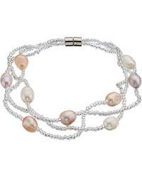 John Lewis - Faux Pearl Beaded Layered Bracelet - Lyst