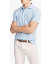 b8bab2b3e John Lewis and Partners · Ralph Lauren - Polo Slim Fit Mesh Polo Shirt -  Lyst