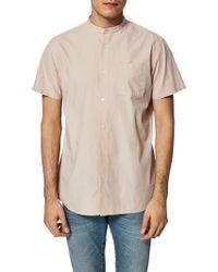 SELECTED - Twocrisp Granddad Collar Shirt - Lyst