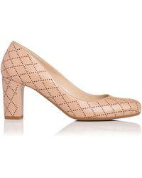 John Lewis - Sersha Block Heeled Court Shoes - Lyst