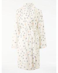 John Lewis - Heart Print Fleece Dressing Gown - Lyst