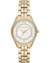 b20c75d1c506 Michael Kors Mk3716 Lauryn Glitter Bracelet Watch In Rose Gold in ...
