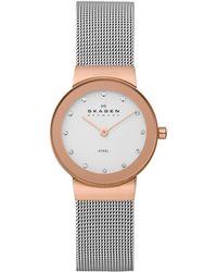Skagen - 358srs Women's Stainless Steel Bracelet Strap Watch - Lyst