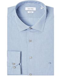 Calvin Klein | Rome Check Fitted Shirt | Lyst