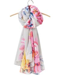 Joules - Harmony Whitstable Floral Scarf - Lyst