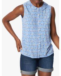 White Stuff - Chestnut Shirt Vest - Lyst