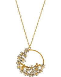 Alex Monroe - Flower And Bee Spring Pendant Necklace - Lyst