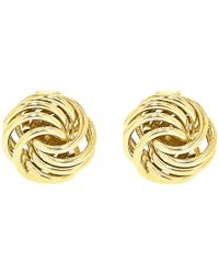 Ib&b | 9ct Gold Mini Rose Stud Earrings | Lyst