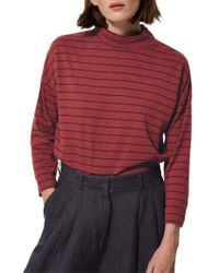Toast - Breton Stripe High Neck T-shirt - Lyst