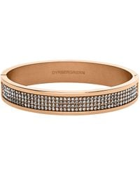 Dyrberg/Kern - Heli Rose Gold Swarovski Bangle - Lyst