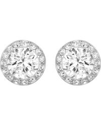 Swarovski - Angelic Crystal Post Earrings - Lyst