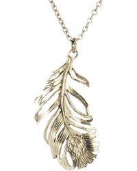 Alex Monroe - Drop Feather Pendant Necklace - Lyst
