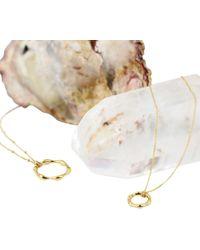 Missoma - 18ct Gold Vermeil Large Molten Bobble Chain Pendant Necklace - Lyst