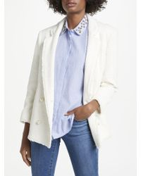 Trilogy - Pearl Button Blazer - Lyst