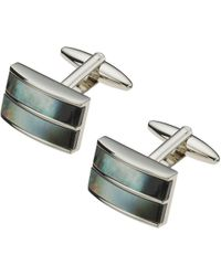 John Lewis - Double Band Mother Of Pearl Cufflinks - Lyst