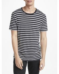 J.Lindeberg - Coma Stripe Linen T-shirt - Lyst