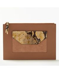 Modern Rarity - Carmenere Leather Pouch Purse - Lyst