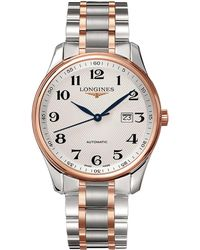 Longines - L28935797 Men's Master Collection Automatic Date Two Tone Bracelet Strap Watch - Lyst