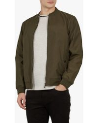 94aee6a1fb38b4 Ted Baker Robot Bomber Jacket in Gray for Men - Lyst