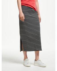 John Lewis - Midi Stripe Jersey Skirt - Lyst