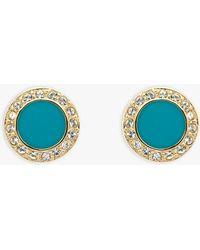Melissa Odabash - Swarovski Crystal And Enamel Round Stud Earrings - Lyst