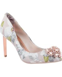 Ted Baker - Peetch Chatsworth Jacquard Court Shoes - Lyst