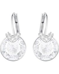 Swarovski - Bella V Pierced Earrings - Lyst