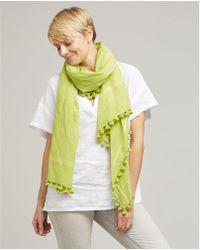 East - Silk Cotton Pom Pom Scarf - Lyst