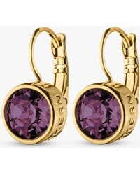 Dyrberg/Kern - Louise Swarovski Crystal French Hook Drop Earrings - Lyst