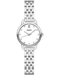Seiko | Sur697p1 Women's Swarovski Crystal Bracelet Strap Watch | Lyst