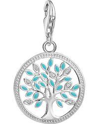 Thomas Sabo - Charm Club Cubic Zirconia Tree Of Love Charm - Lyst