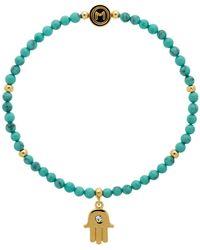 Melissa Odabash   Turquoise Bead Hamsa Hand Stretch Bracelet   Lyst