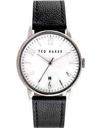 Ted Baker - Te10030650 Men's Daniel Date Leather Strap Watch - Lyst