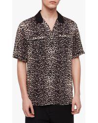 AllSaints - Feline Shirt - Lyst
