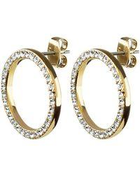 Dyrberg/Kern - Roselle Swarovski Crystal Open Circle Drop Earrings - Lyst