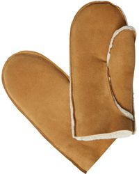White Stuff - Celtic Sheepskin Leather Mittens - Lyst