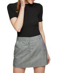 Miss Selfridge - Miss Selfirdge Check Mini Skirt - Lyst