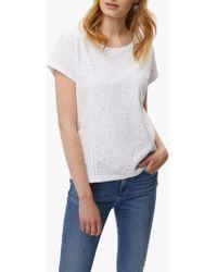 White Stuff - Mosaic Jersey T-shirt - Lyst