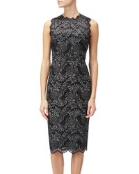 Adrianna Papell - Lace Two Tone Sheath Dress - Lyst
