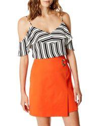 Karen Millen - Engineered Stripe Top - Lyst