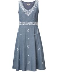East - Maria Embroidered Dress - Lyst