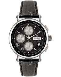John Lewis - Dreyfuss & Co Men's Chronograph Leather Strap Watch - Lyst